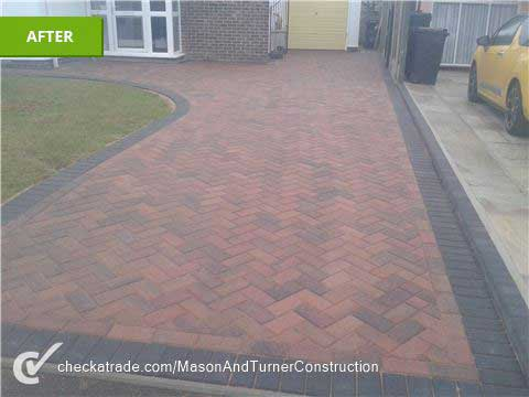 Driveway & front garden after