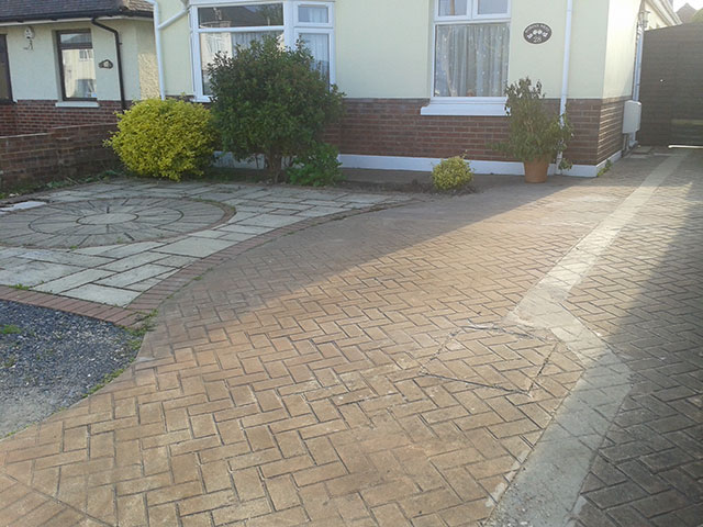 Poole Driveway & front garden before